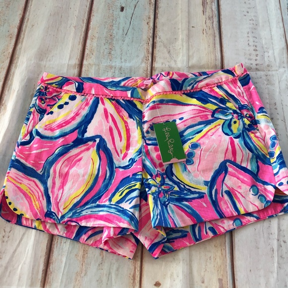 Lilly Pulitzer Pants - Lilly Pulitzer Pink Sunset Pattern Shorts